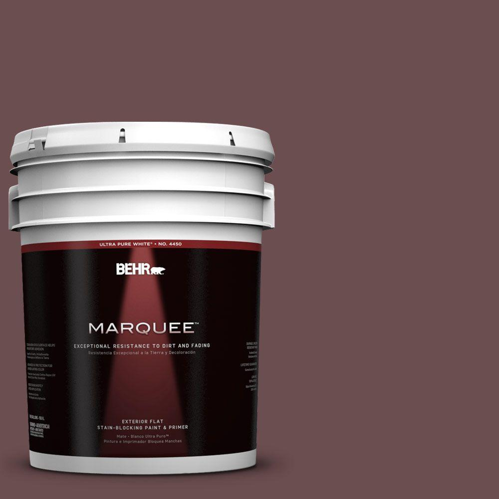 BEHR MARQUEE 5-gal. #130F-7 Semi Sweet Flat Exterior Paint-445305 - The