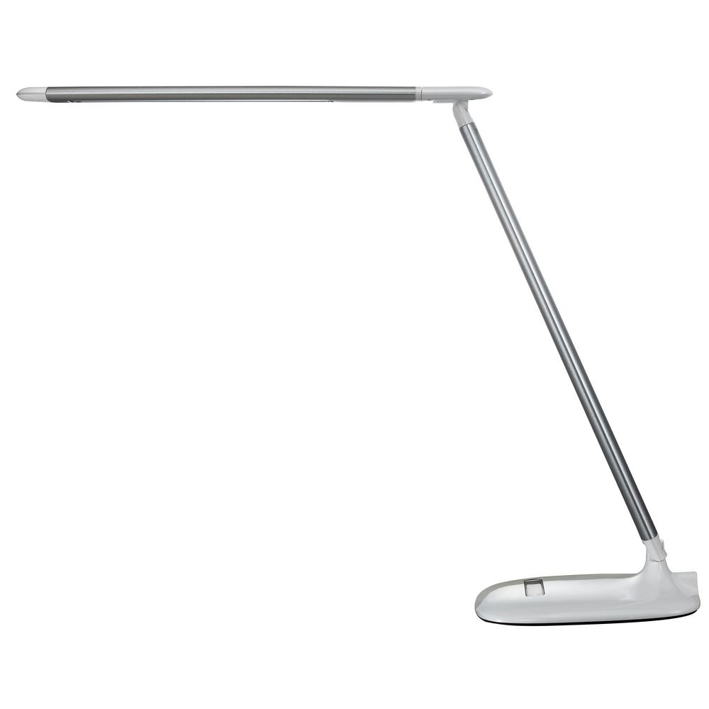 17.32 in. Silver and White LED Desk Lamp with Color Temperature