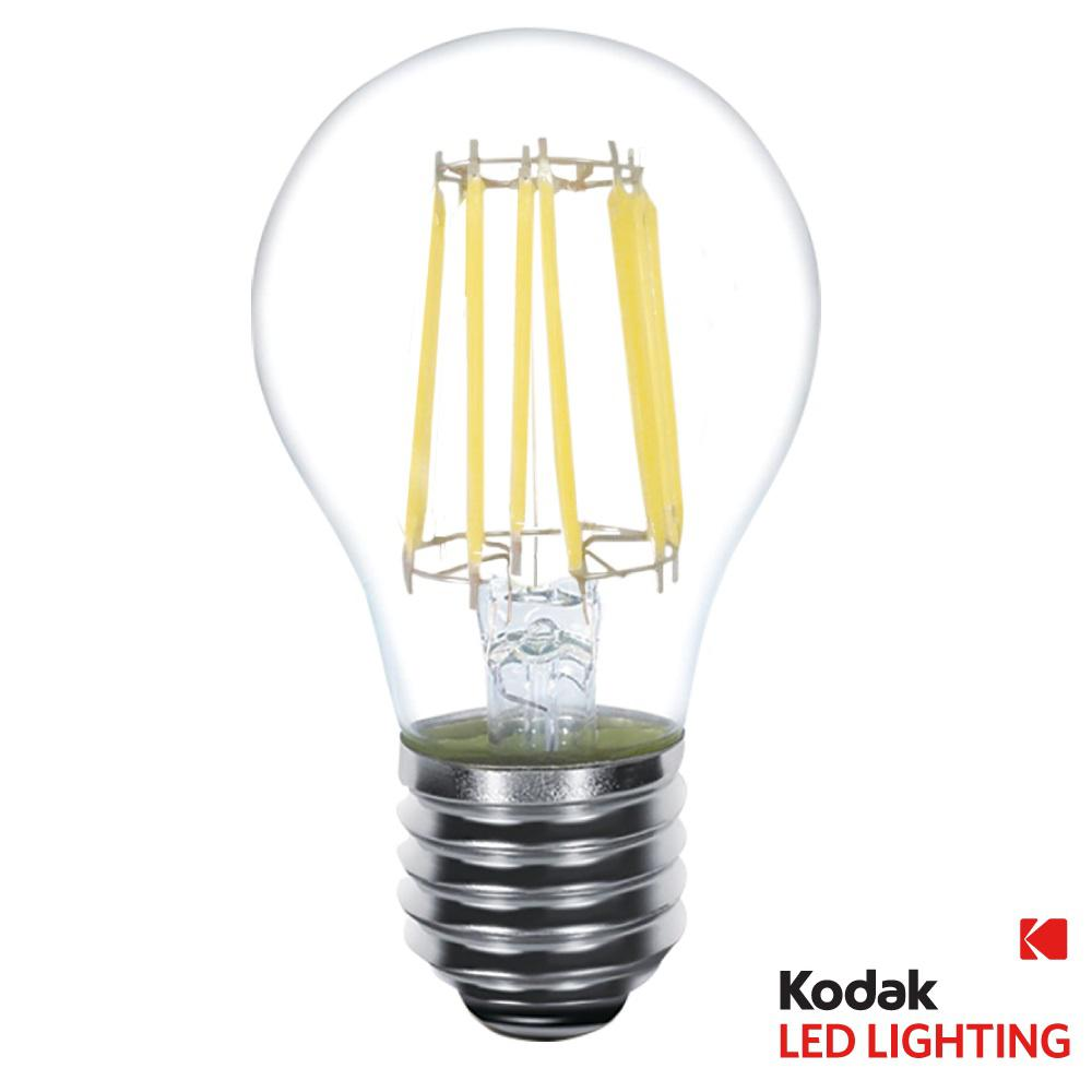 Kodak 60w Equivalent Warm White A19 Clear Filament Dimmable Led Light Bulb 41070 Ul The Home Depot