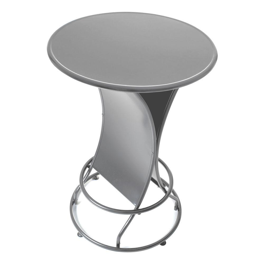 Trademark Global Pure Garden Silver 45 in. Patio Pub Table