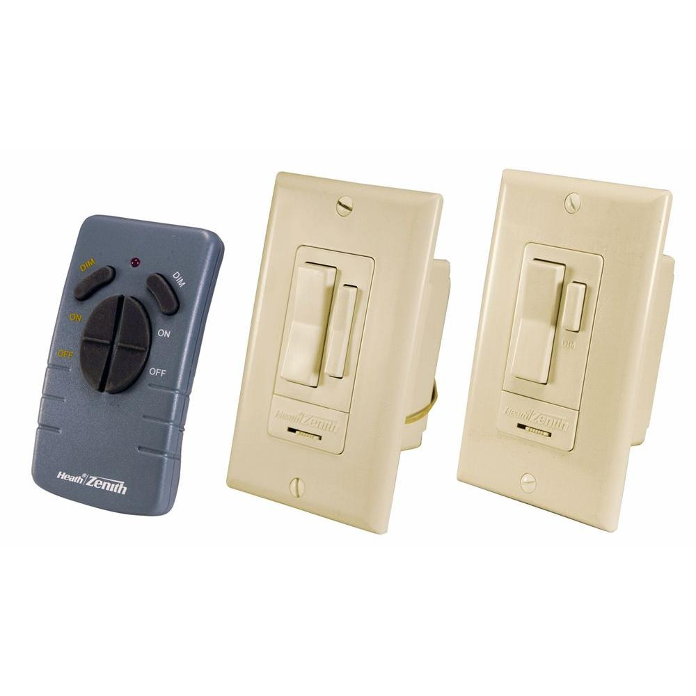 Heath Zenith Indoor 3-Way Ivory Wall Switch Control