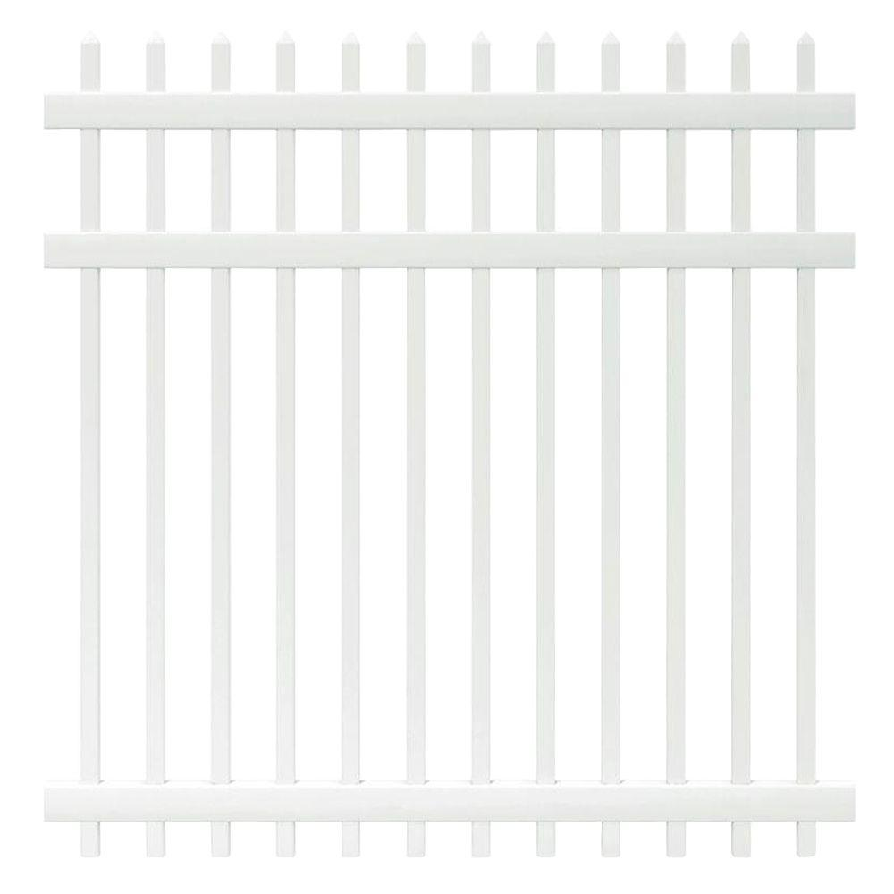 Veranda manchester 6 ft h x 6 ft w white vinyl spaced picket w white vinyl spaced picket fence baanklon Image collections
