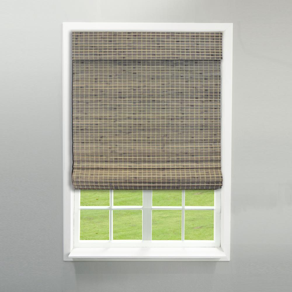 39 in. W x 64 in. L Driftwood Cordless Flat Weave