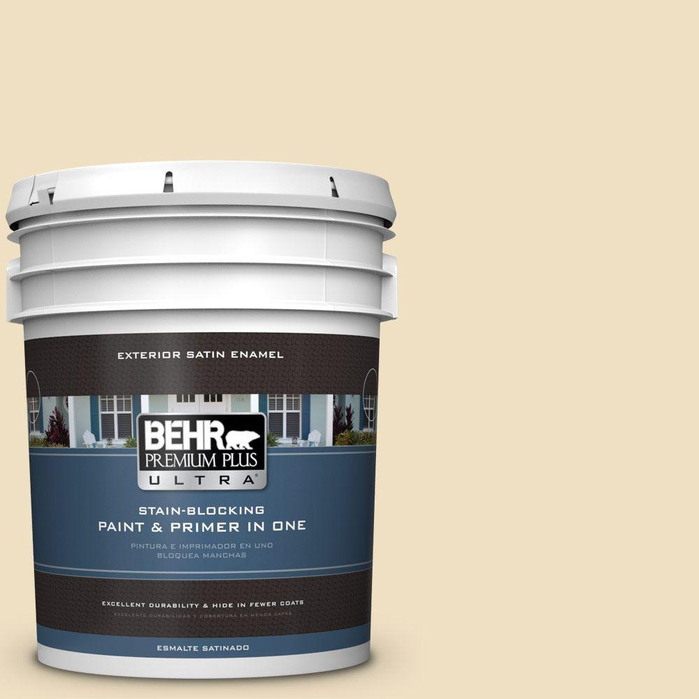 Home Decorators Collection 5-gal. #HDC-NT-17 New Cream Satin Enamel Exterior Paint