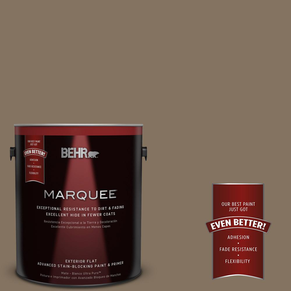 BEHR MARQUEE 1-gal. #BXC-05 Mudslide Flat Exterior Paint-445301 - The Home