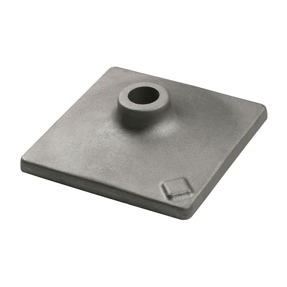 8 in. x 8 in. Hammer Steel Tamper Plate for Use