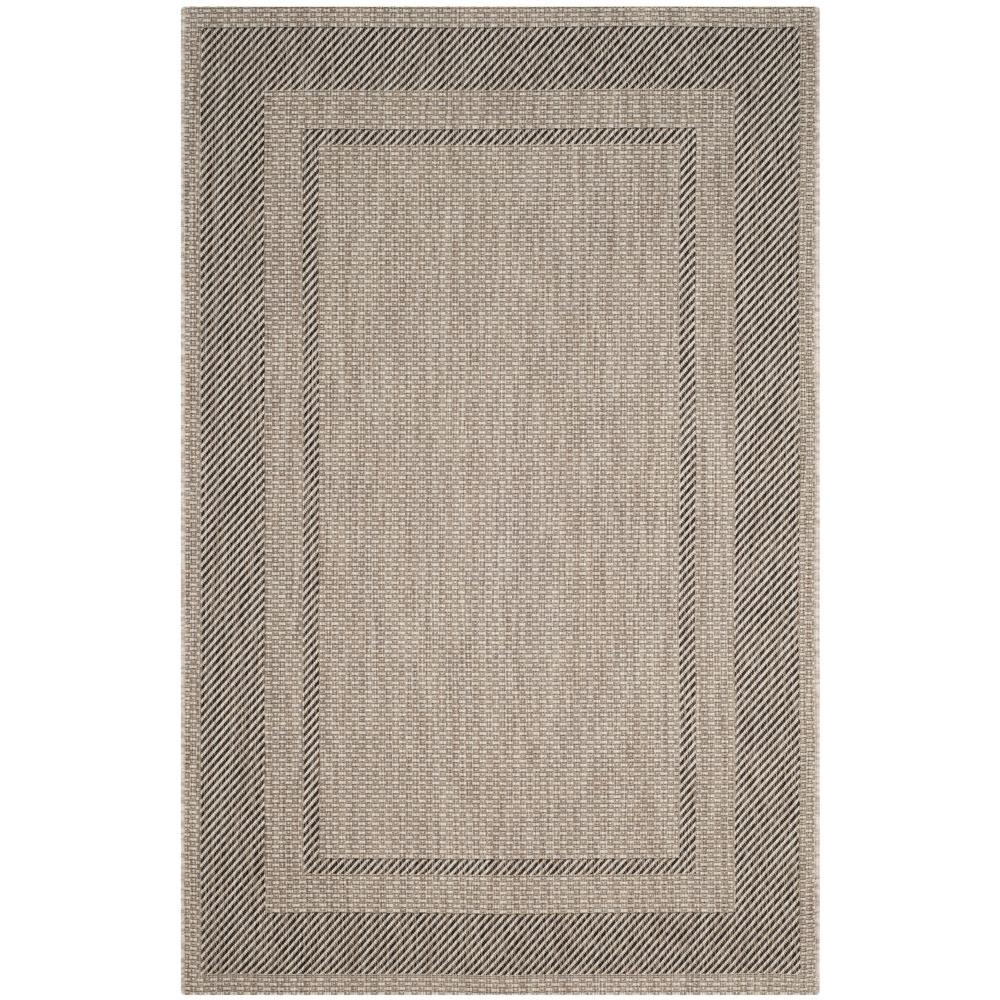 Courtyard Beige/Black 6 ft. 7 in. x 9 ft. 6 in.