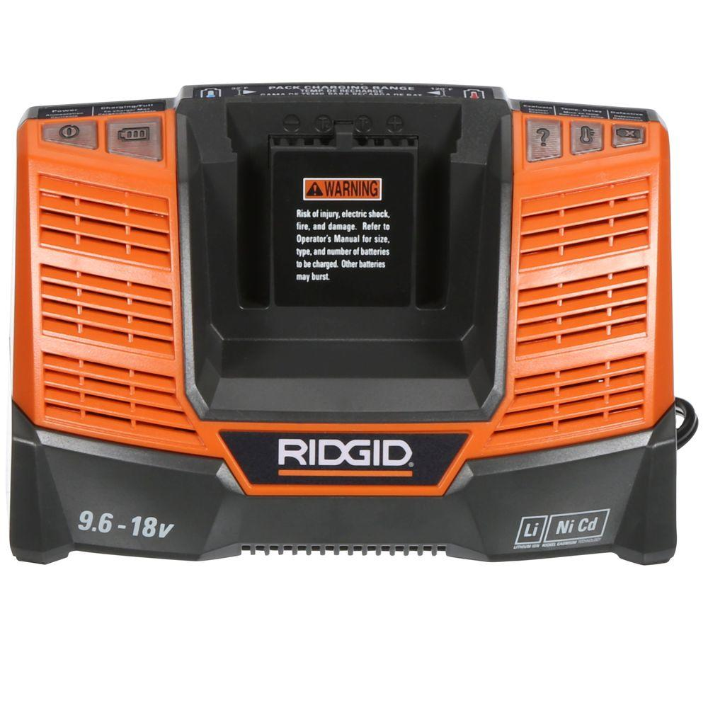 RIDGID X4 18-Volt Dual Chemistry Charger