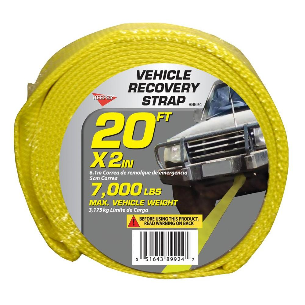 "Keeper 20' x 2"" x 7000 lbs. Vehicle Recovery Strap"