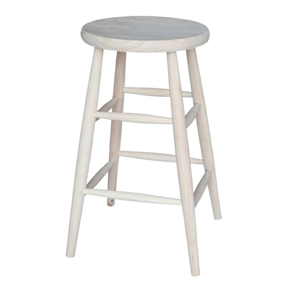 International concepts 30 in unfinished wood bar stool 1s 830 the home depot Home depot wood bar stools