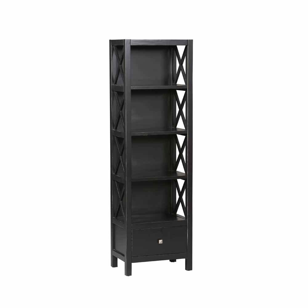 Anna Collection Tall Narrow 5 Shelf Bookcase-K86102C124 - The Home Depot