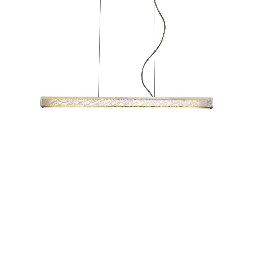 LBL Lighting Gypsy 1-Light Bronze LED Hanging Chandelier with Frost Suspension