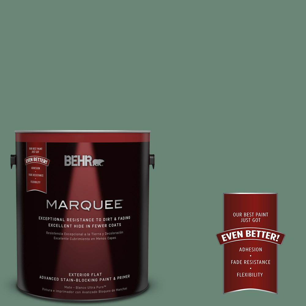 BEHR MARQUEE 1-gal. #PPF-35 Green Adirondack Flat Exterior Paint-445301 - The