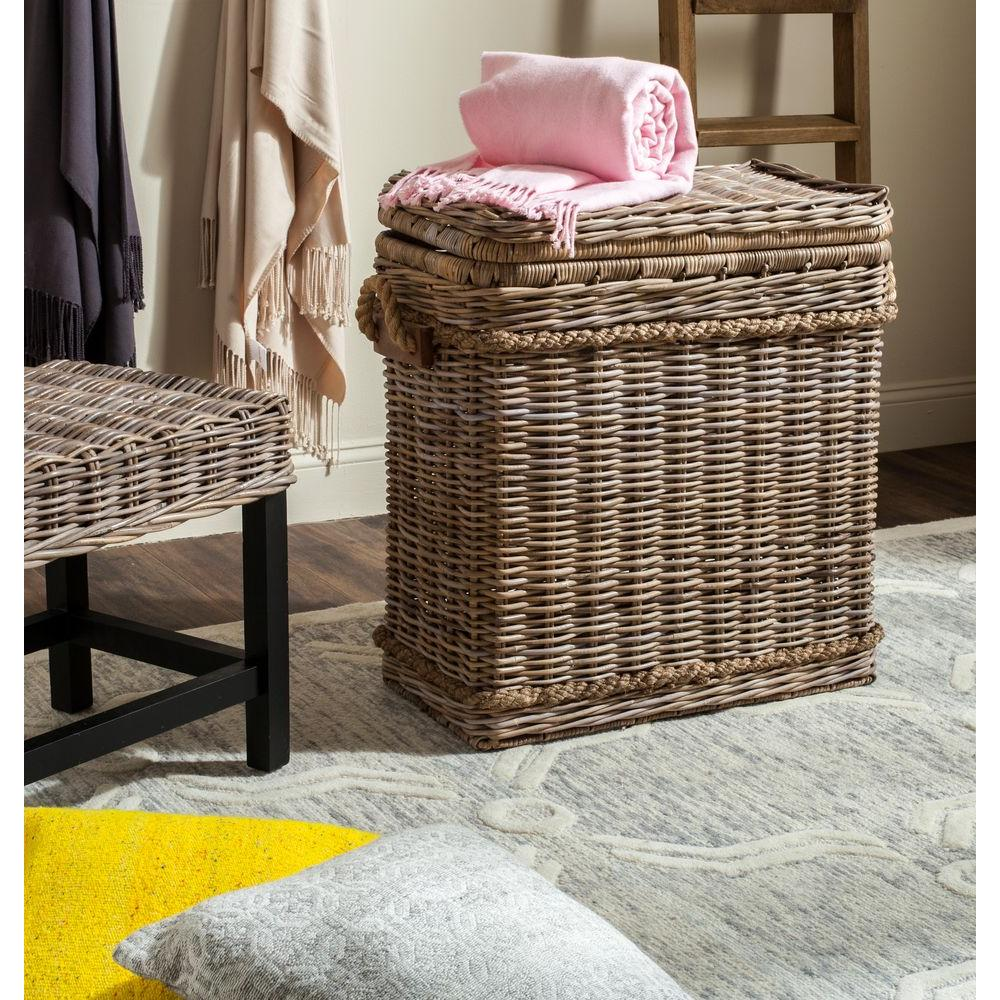 Safavieh Sora Natural Wicker Accent Table-SEA7027A - The Home Depot