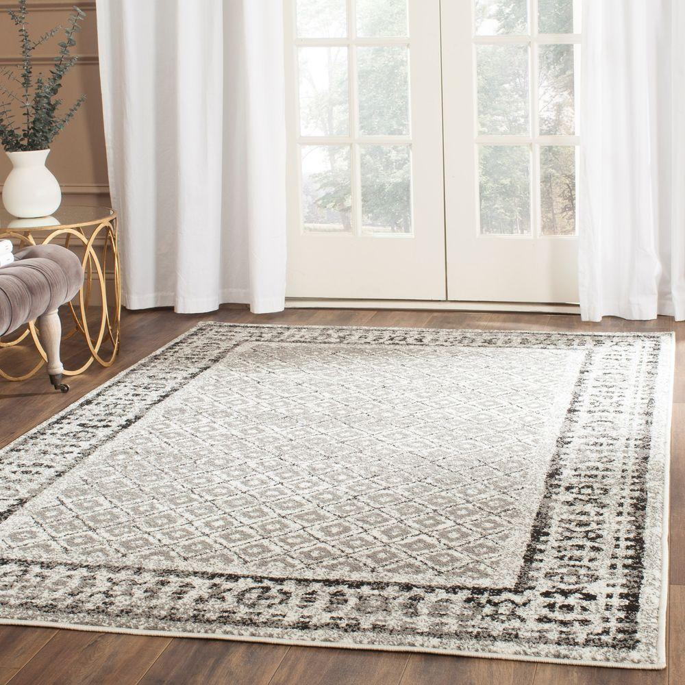 Safavieh Adirondack Ivory/Silver 6 ft. x 9 ft. Area Rug-ADR110B-6 -