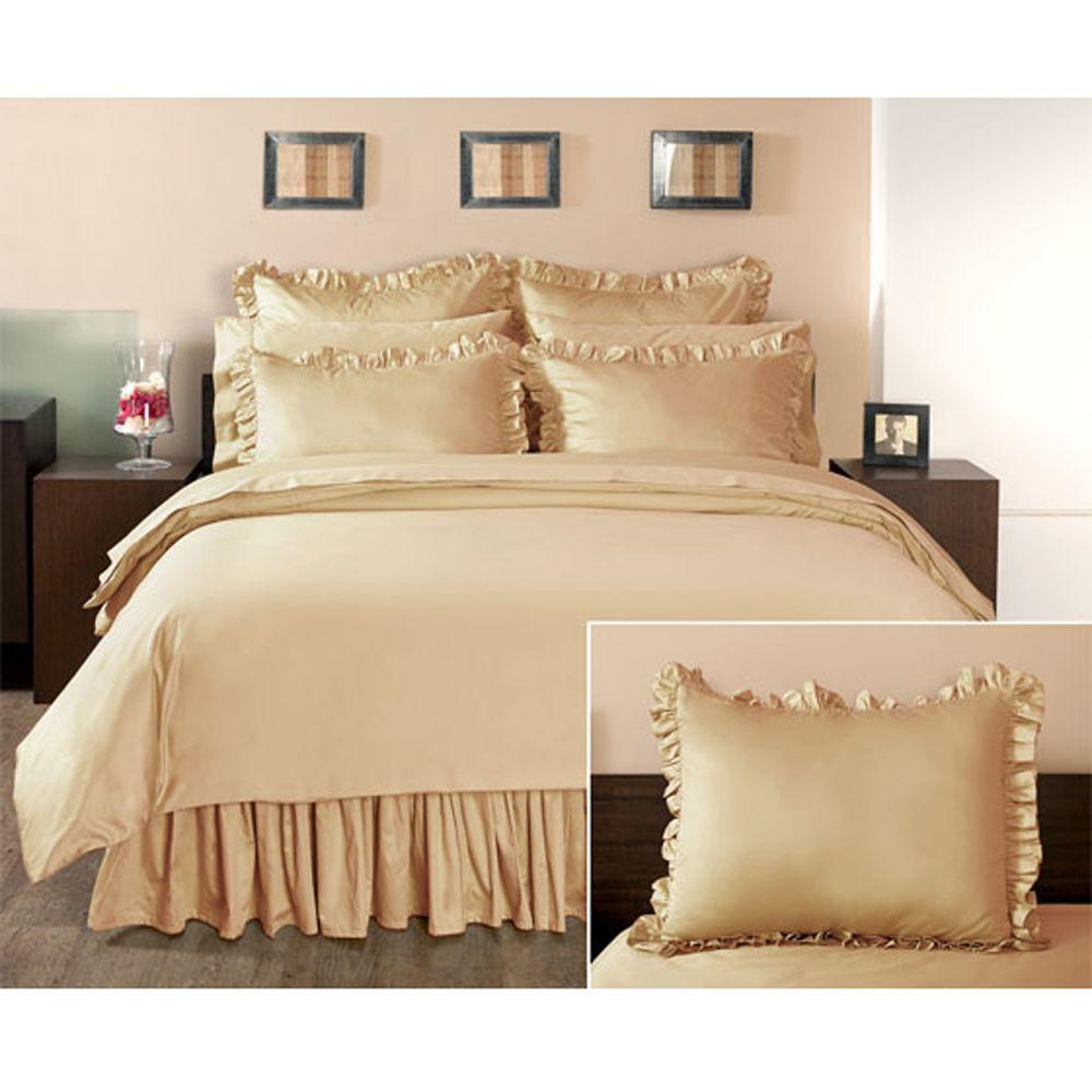 Home Decorators Collection Ruffled Craft Brown Euro Sham