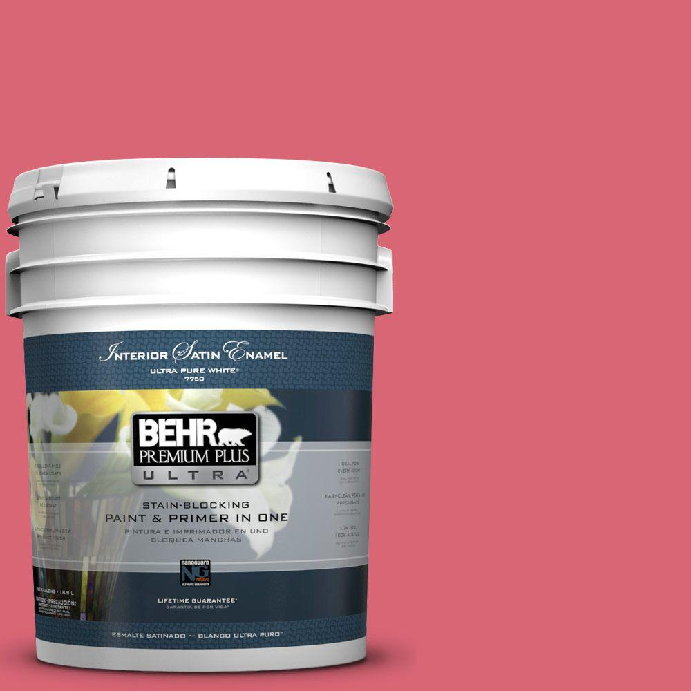 BEHR Premium Plus Ultra 5-gal. #P150-5 Kiss and Tell Satin Enamel Interior Paint