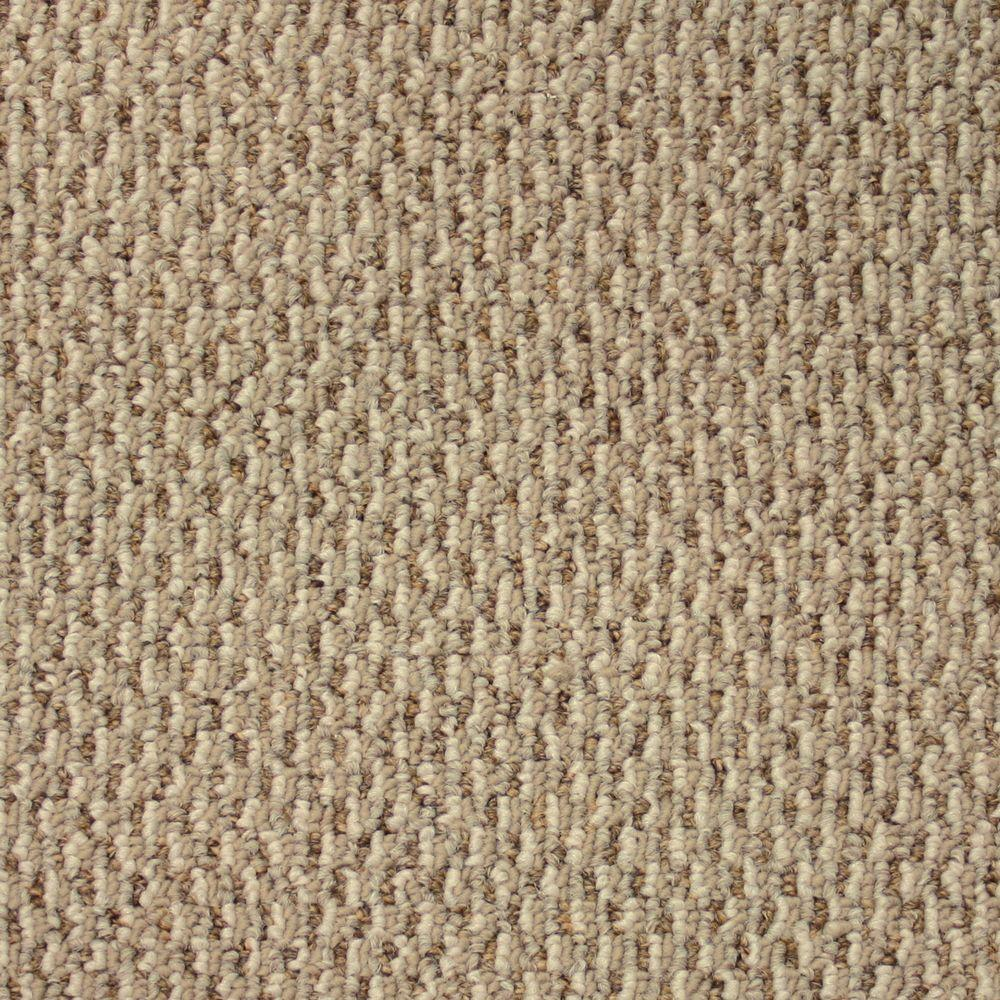 Skill Set - Color Vanilla Wafer Berber 12 ft. Carpet