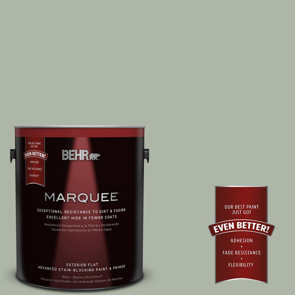 BEHR MARQUEE 1-gal. #ICC-56 Green Tea Flat Exterior Paint