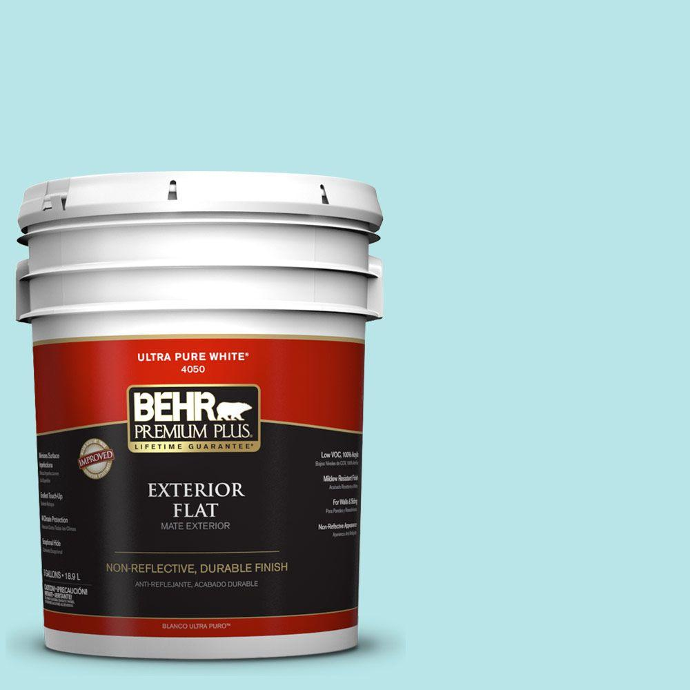 BEHR Premium Plus 5-gal. #500A-2 Refreshing Pool Flat Exterior Paint