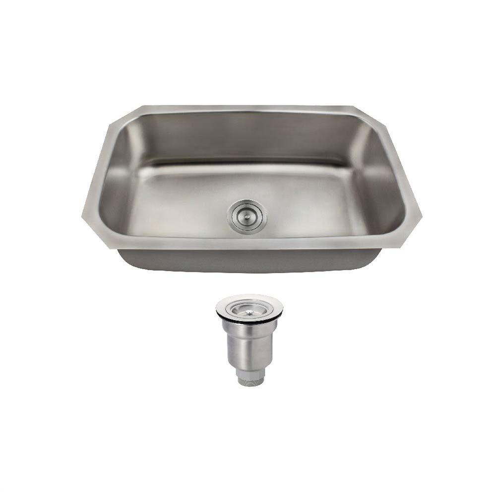 MR Direct All-in-One Undermount Stainless Steel 30-1/2 in. Single Bowl Kitchen