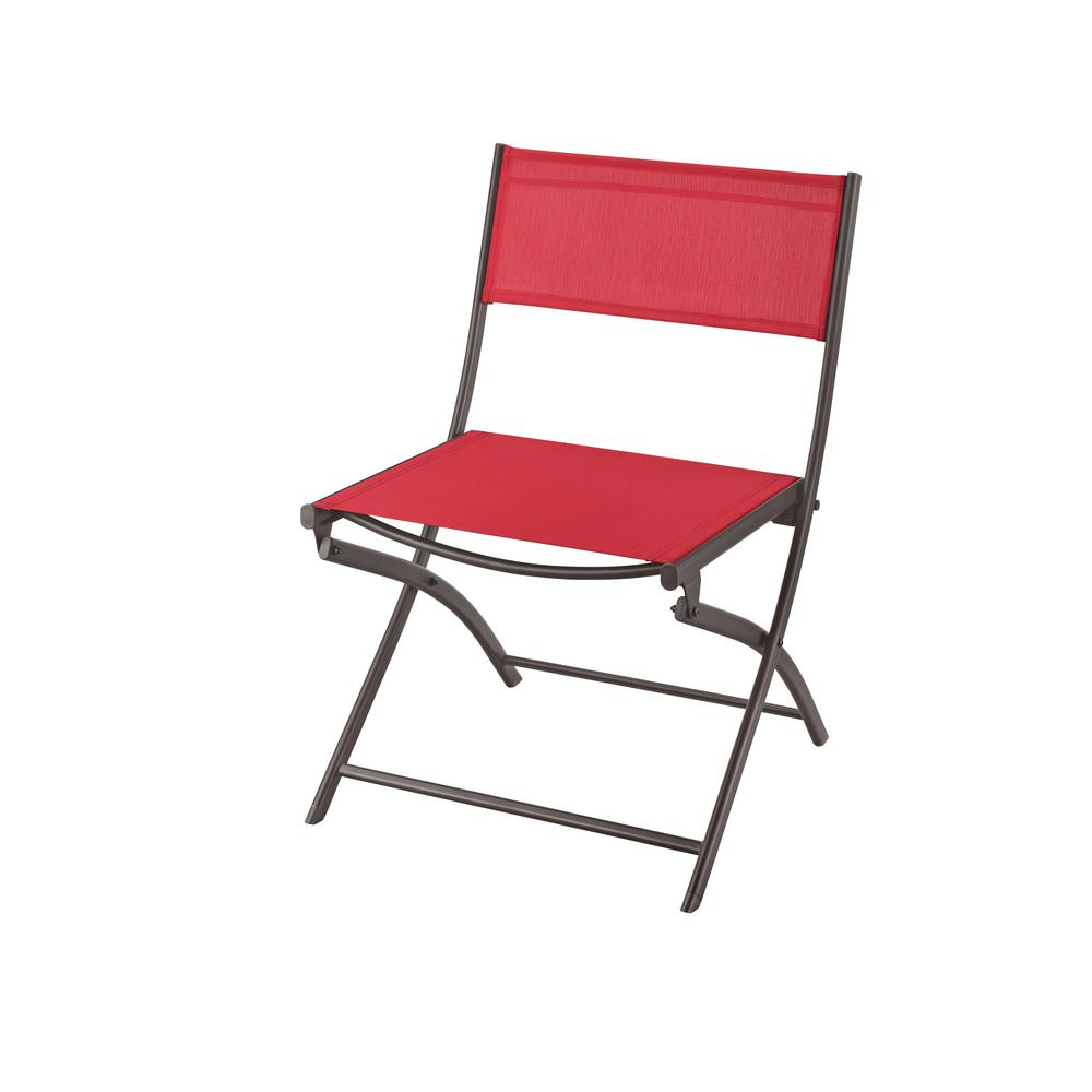 Hampton Bay Mix and Match Folding Sling Outdoor Dining Chair in – Sling Folding Chair