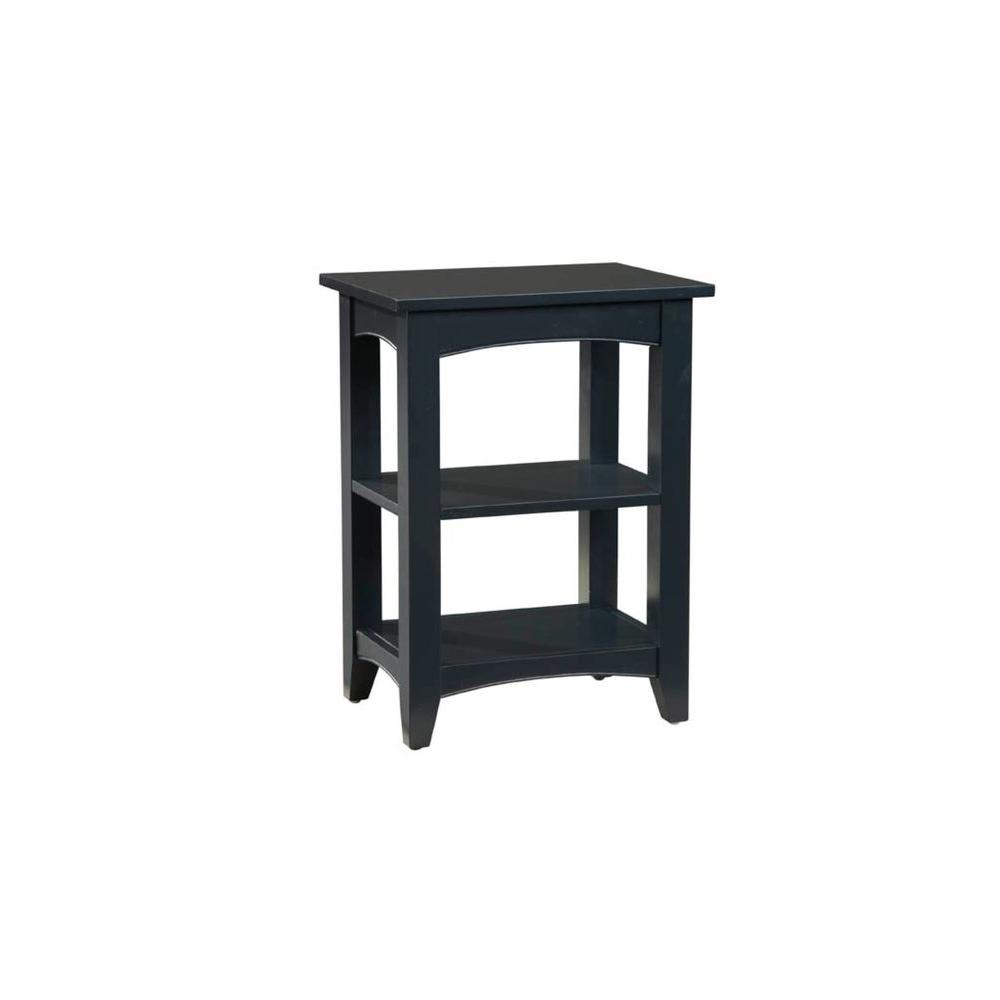 ^ laterre Furniture Shaker ottage 2-Shelf nd able in Black ...