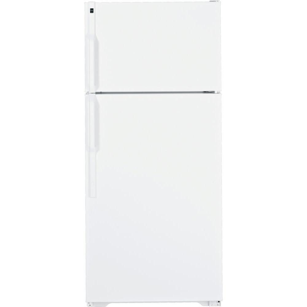 Hotpoint 28 in. W 16.5 cu. ft. Top Freezer Refrigerator in White