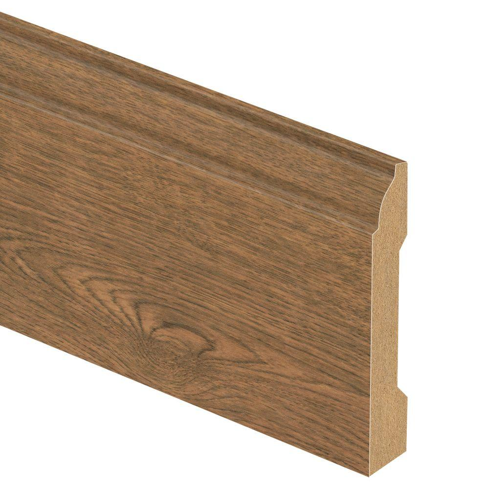 Zamma Fruitwood 9/16 in. Thick x 3-1/4 in. Wide x 94 in. Length Laminate Base Molding