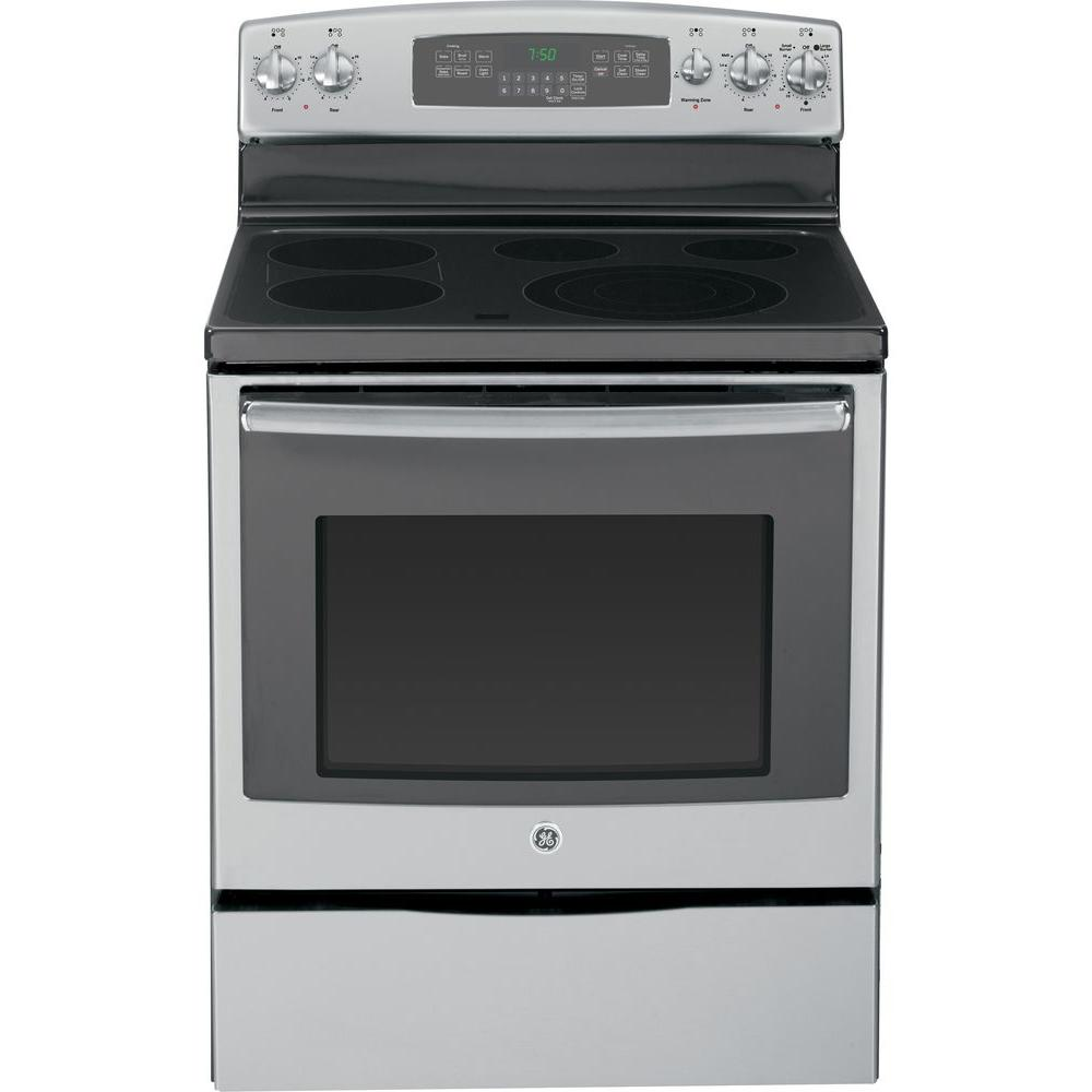 GE 5.3 cu. ft. Electric Range with Self-Cleaning Convection Oven in Stainless Steel