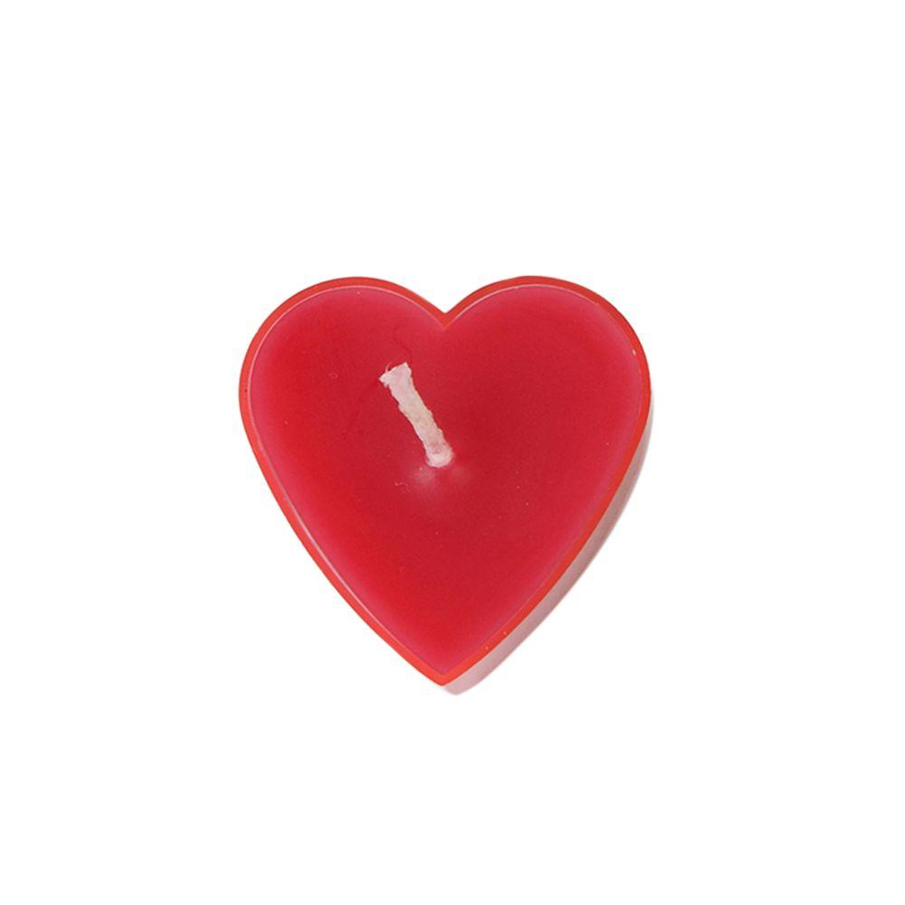Red Heart Tealight Candles (6-Pack), Reds / Pinks
