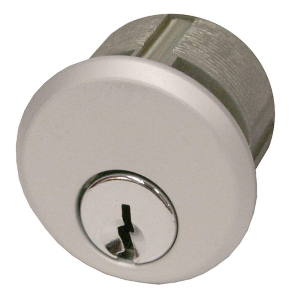 Global Door Controls Single Zinc Mortise Cylinder in Aluminum-TH1100-ZCX1AL -