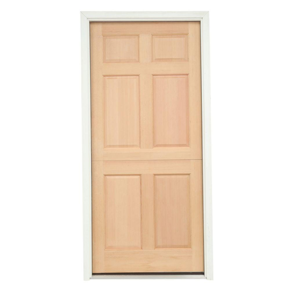 JELD-WEN 32 in. x 80 in. 6-Panel Unfinished Dutch Wood Prehung Right-Hand Inswing Front Door w/Brickmould