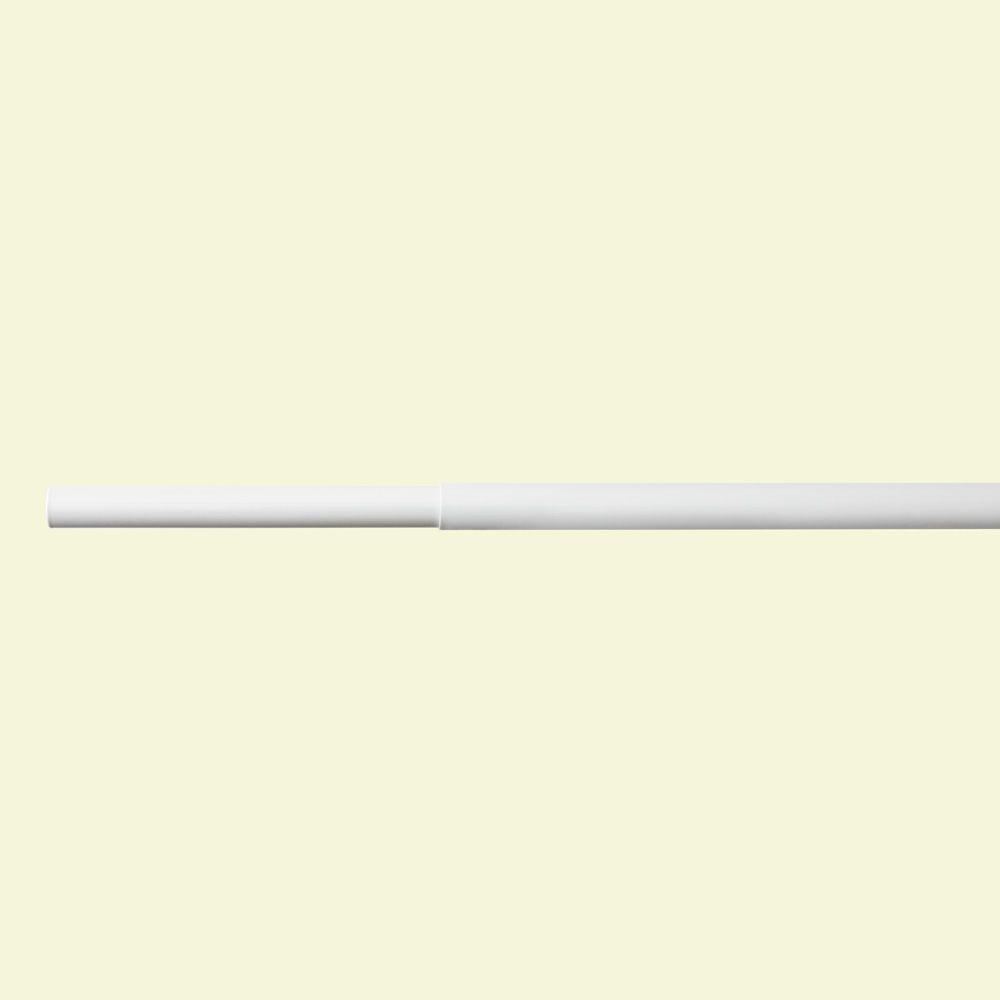 6 ft. - 8 ft. White Adjustable Closet Rod
