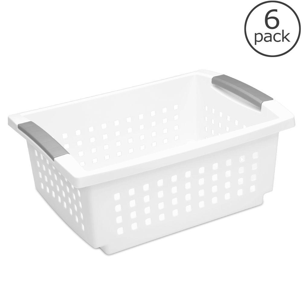 Sterilite Medium Stacking Basket (6-Pack)-16628006 - The Home Depot