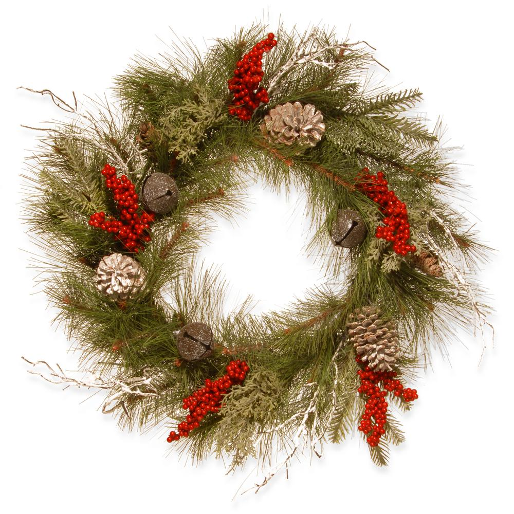 24 in. Bells and Berries Artificial Wreath