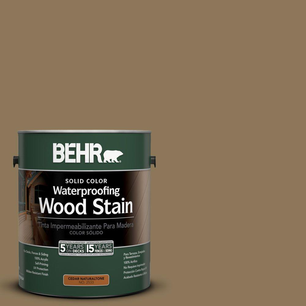 BEHR 1-gal. #SC-153 Taupe Solid Color Waterproofing Wood Stain