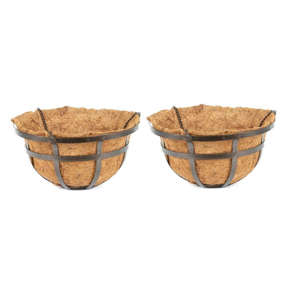 Better-Gro 16 in. Coconest/Steel Hanging Basket (2-Pack)-DISCONTINUED