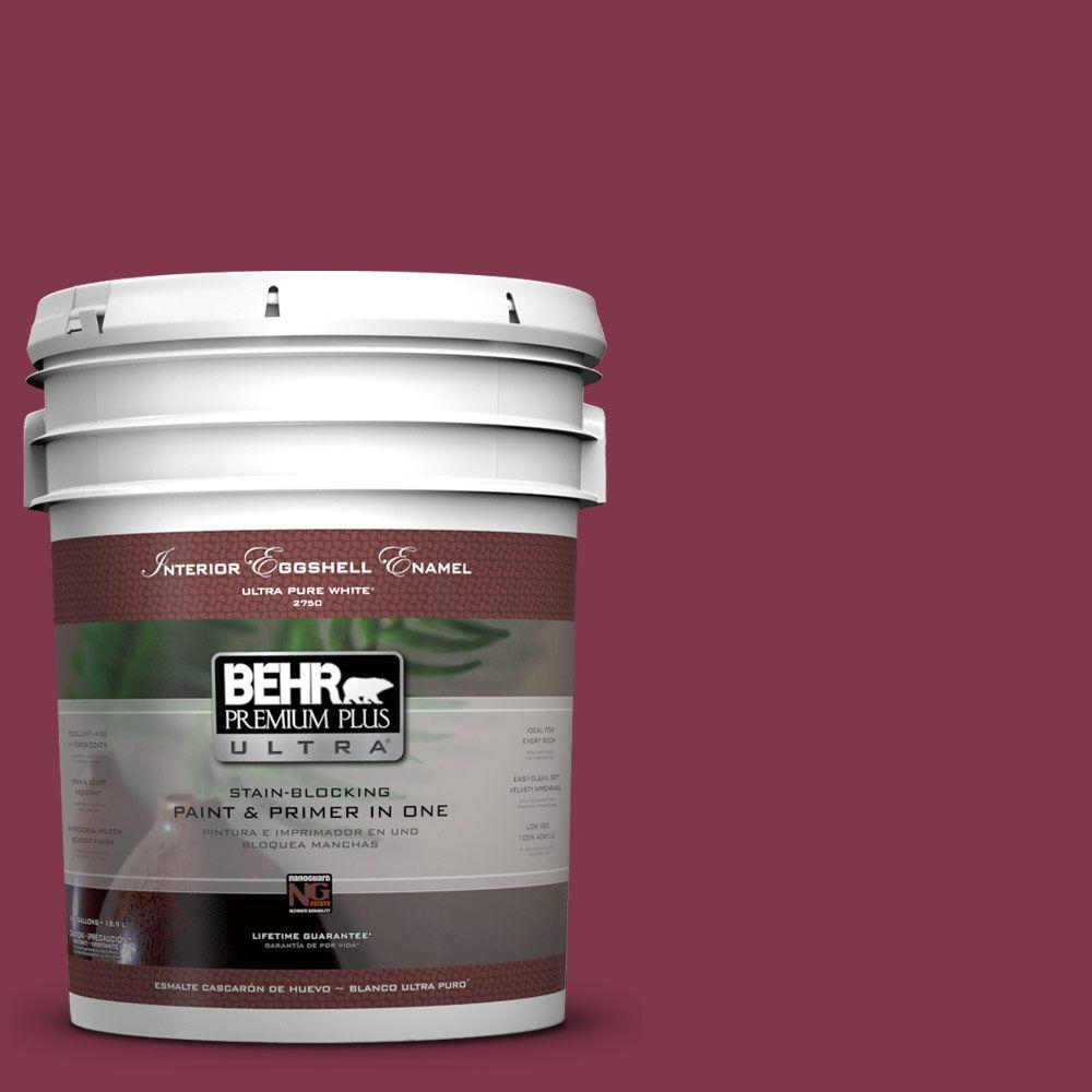5-gal. #120D-7 Ruby Red Eggshell Enamel Interior Paint