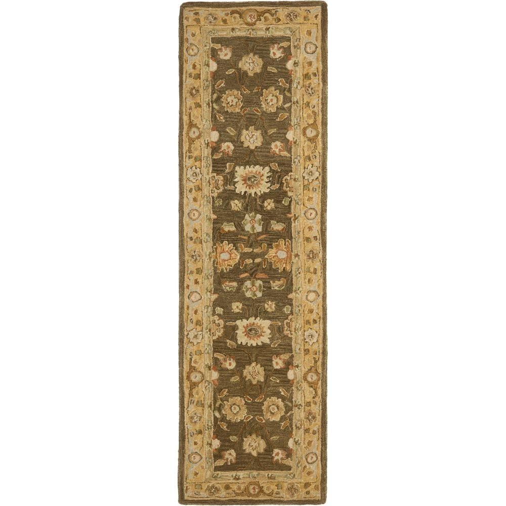 Anatolia Brown/Taupe 2 ft. 3 in. x 10 ft. Runner