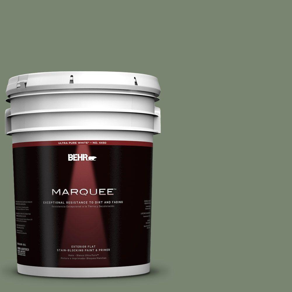 5-gal. #440F-5 Winter Hedge Flat Exterior Paint
