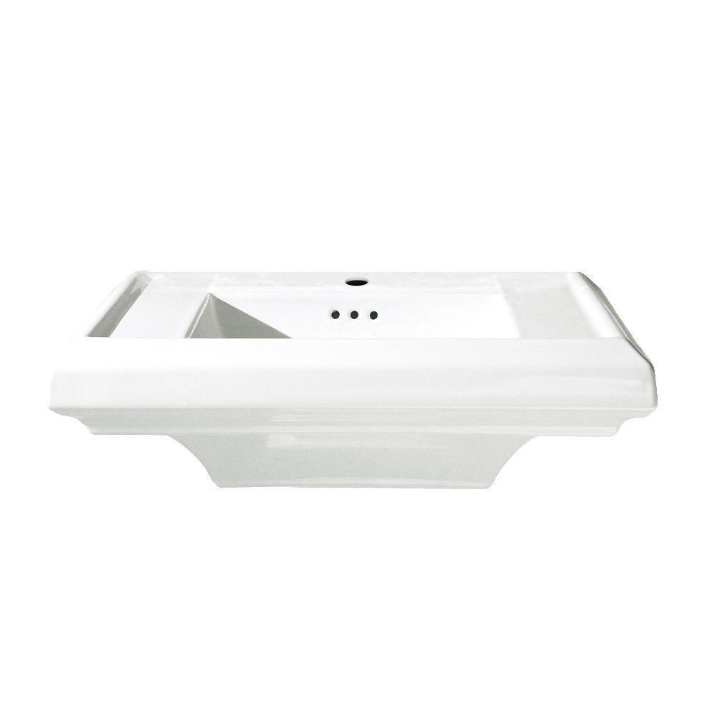 Town Square 24 in. Pedestal Sink Basin with Center Faucet Hole