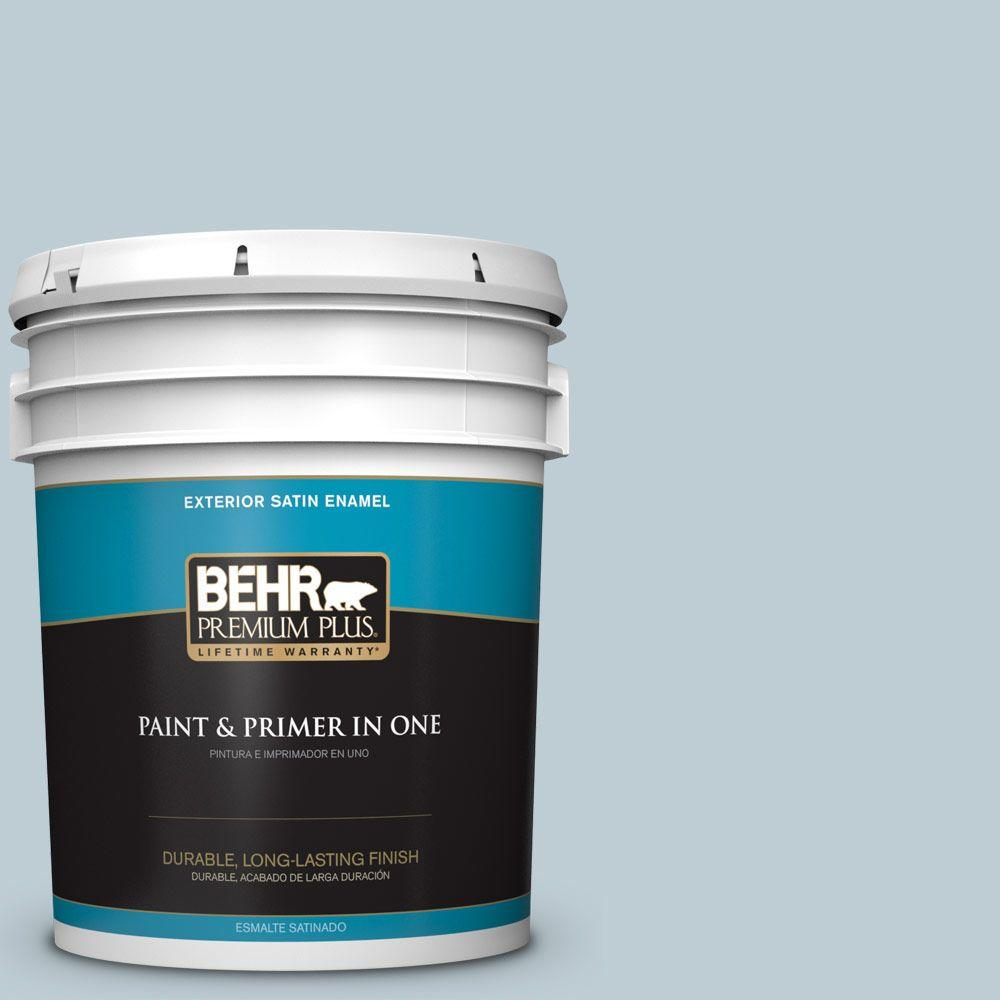 5-gal. #540E-2 Cloudy Day Satin Enamel Exterior Paint