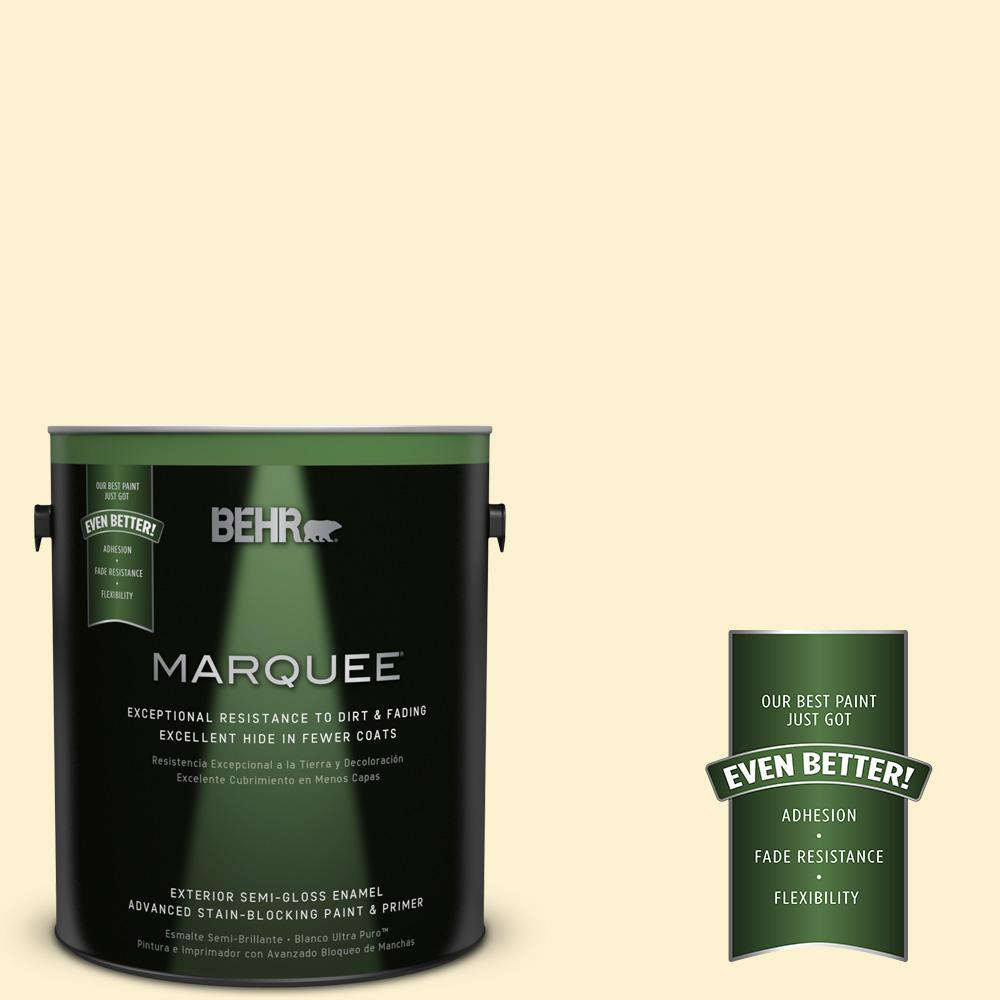 BEHR MARQUEE 1-gal. #P280-1 Summer Bliss Semi-Gloss Enamel Exterior Paint