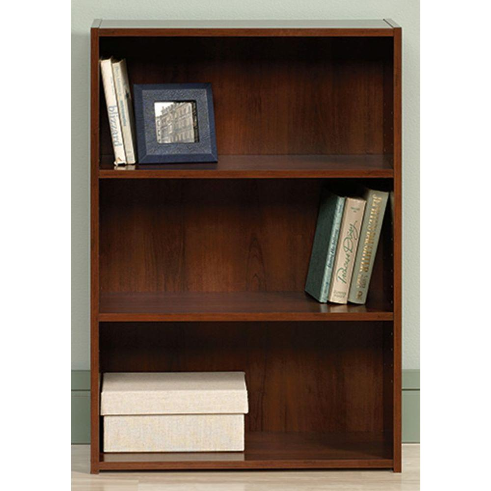 SAUDER Beginnings Collection 35 in. 3-Shelf Bookcase in Brook Cherry-416438 -