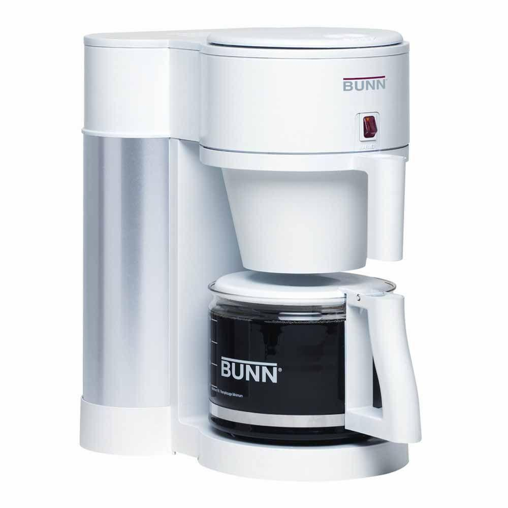 10-Cup Contemporary Home Coffee Maker in White-DISCONTINUED