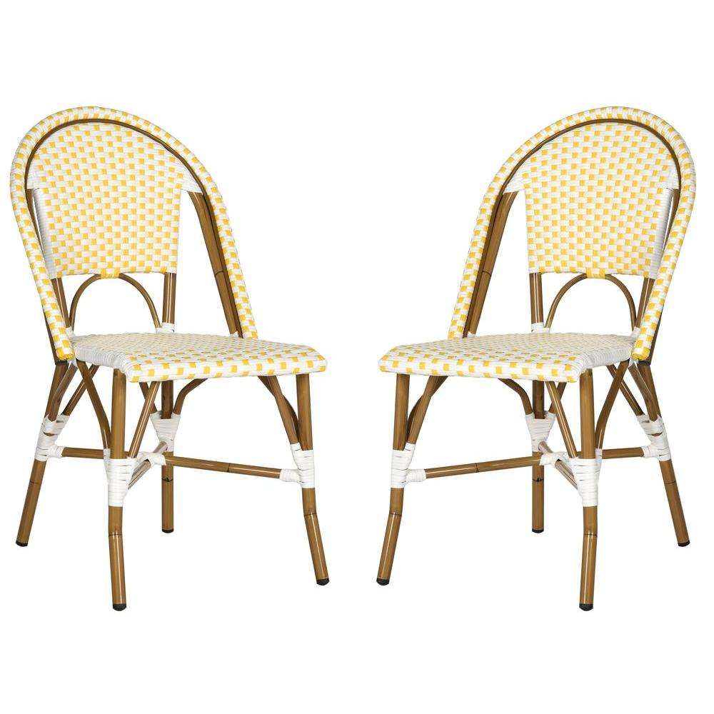 Salcha Yellow Patio Dining Chair (2-Pack)