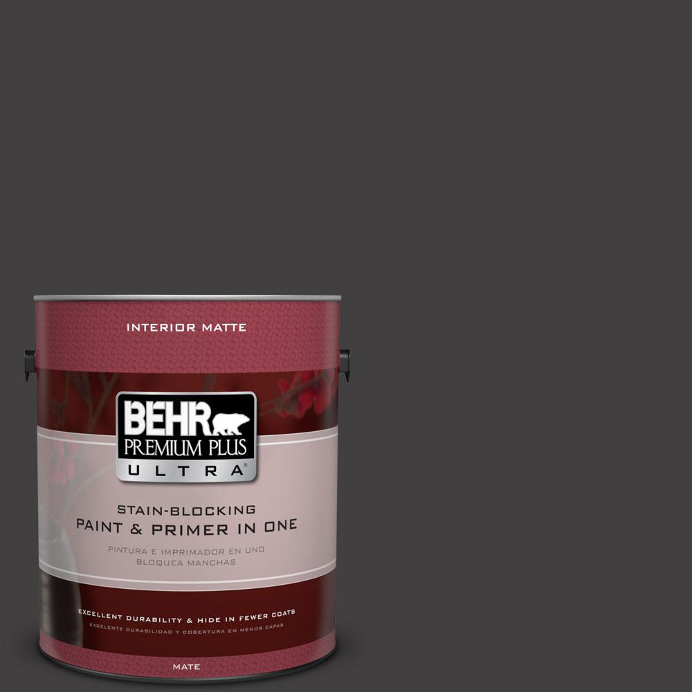 1 gal. #N510-7 Blackout Matte Interior Paint