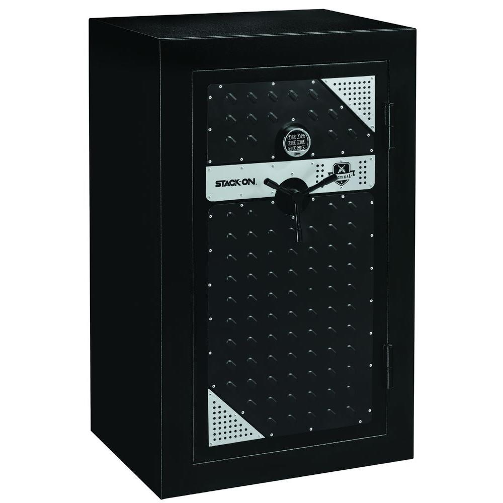 Stack-On Tactical 20-Gun Fire-Resistant Safe with Electronic Lock and Door Storage