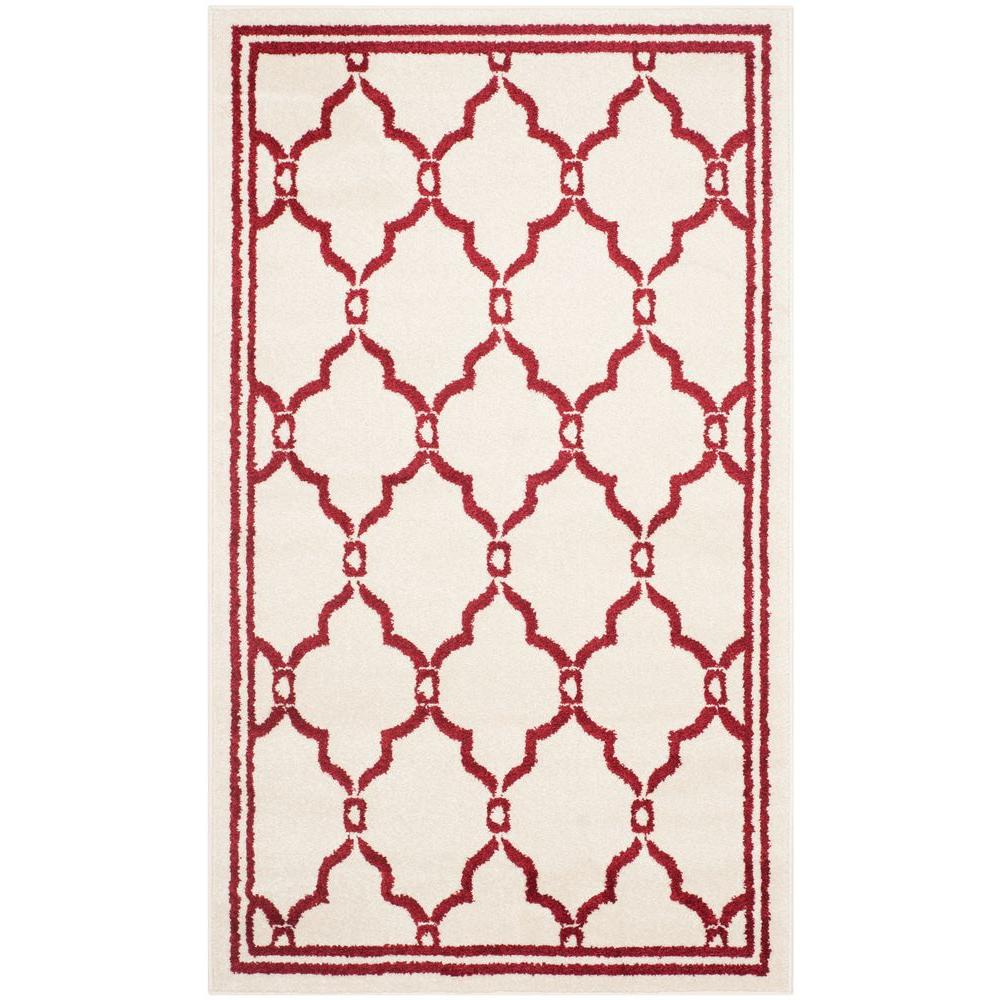 Safavieh Amherst Ivory/Red 3 ft. x 5 ft. Indoor/Outdoor Area Rug-AMT414H-3